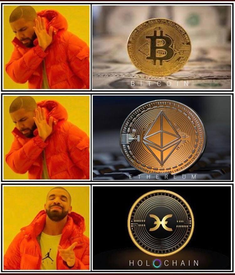 Holo coin Drake meme