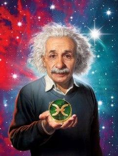 Holo Einstein meme