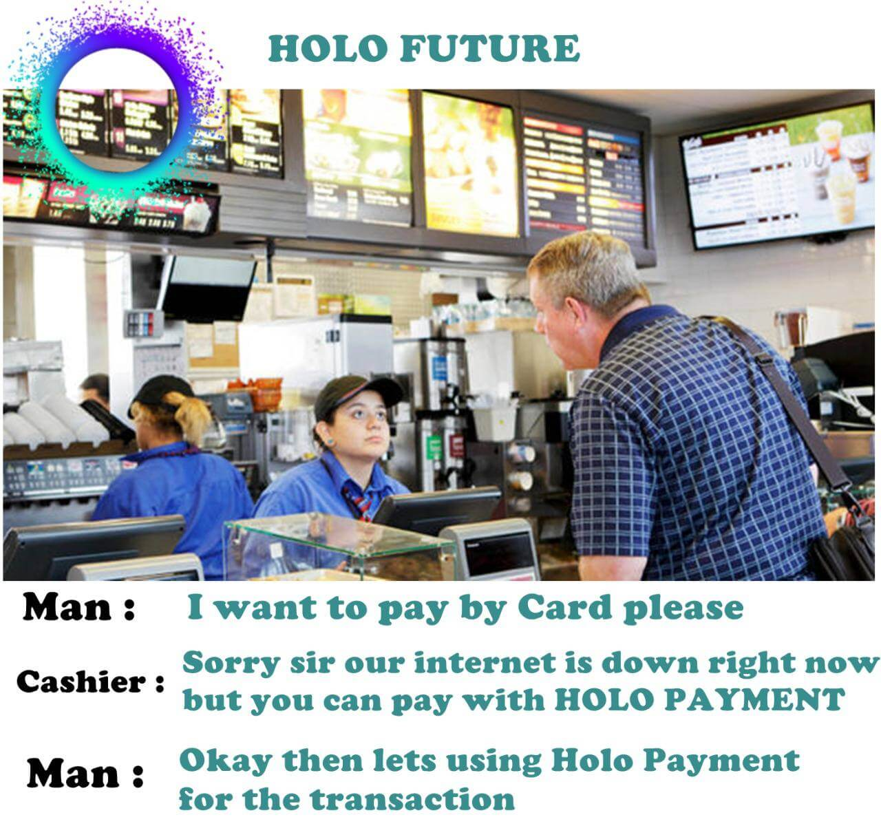 HoloFuel McDonalds meme