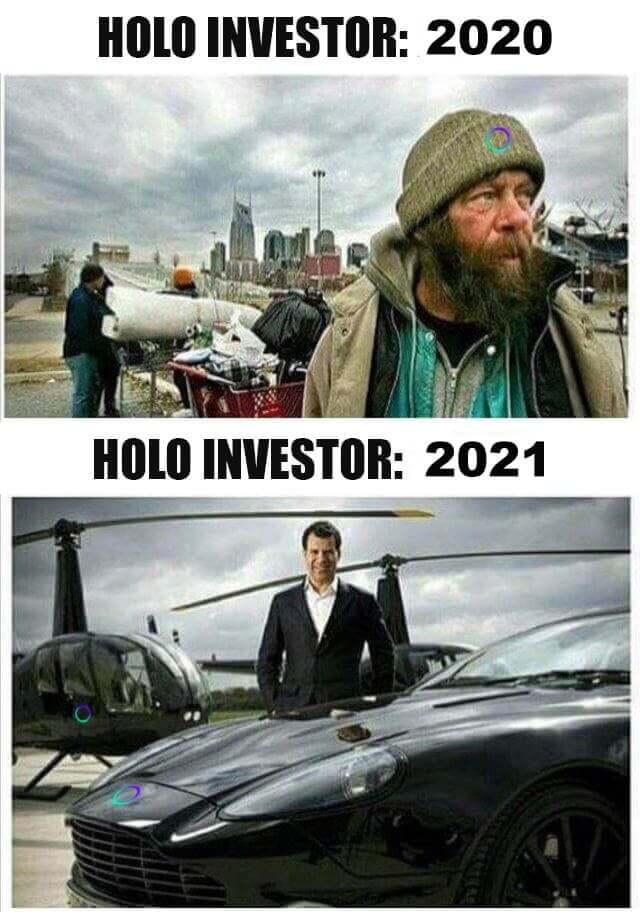 Holo investor meme