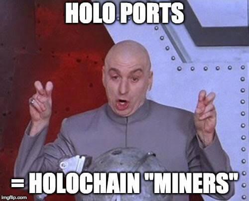 Holo miner meme