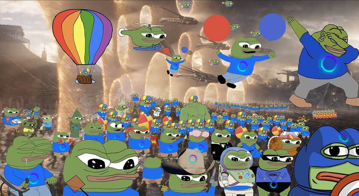 Holo pepe army meme
