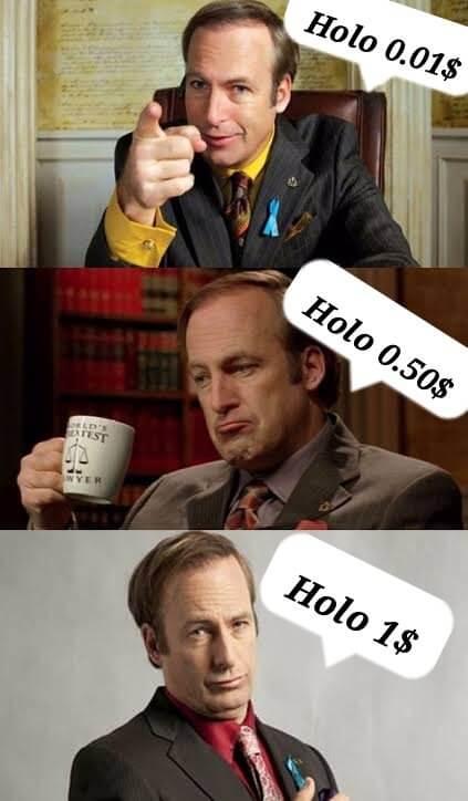Holo price meme