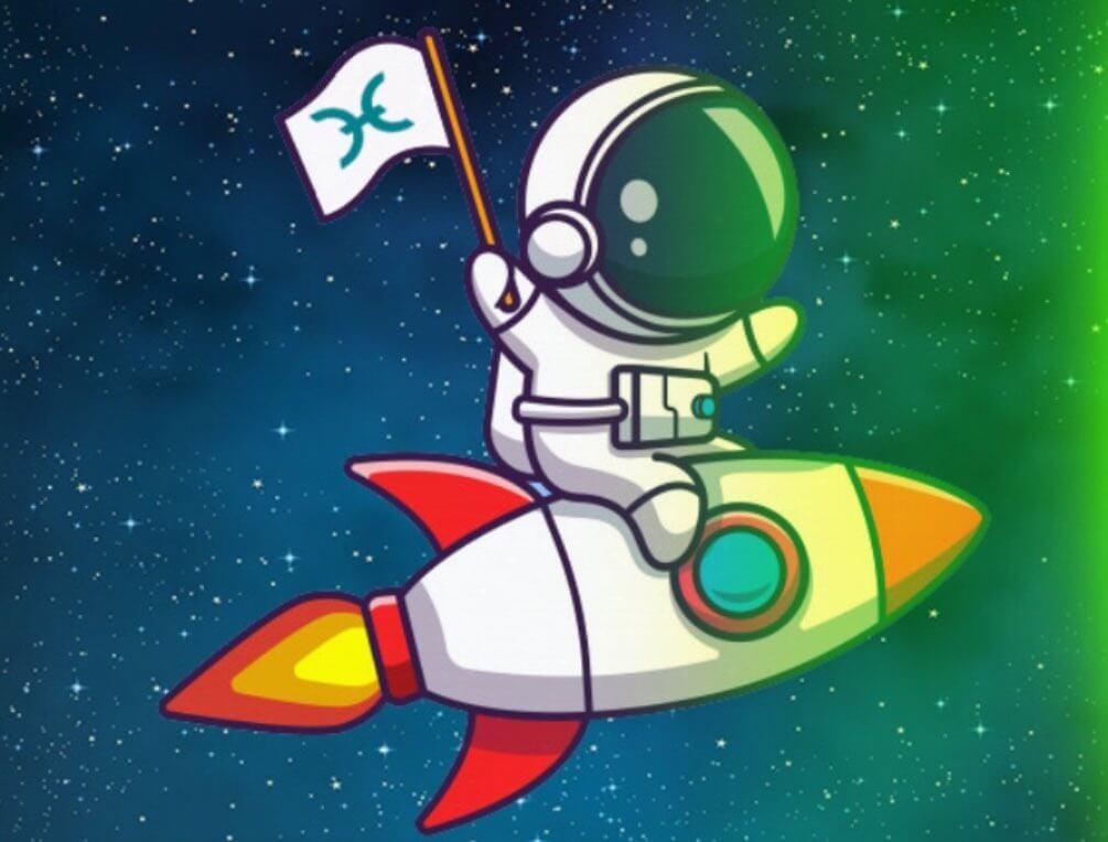 Holo rocket moon meme