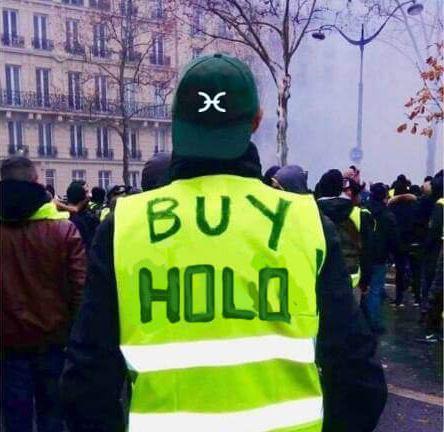 Holochain yellow jacket meme