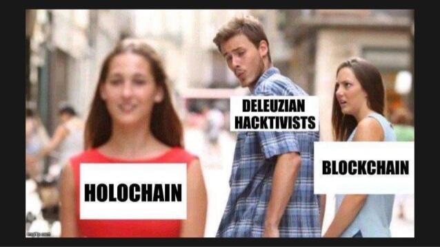 Holo vs blockchain meme