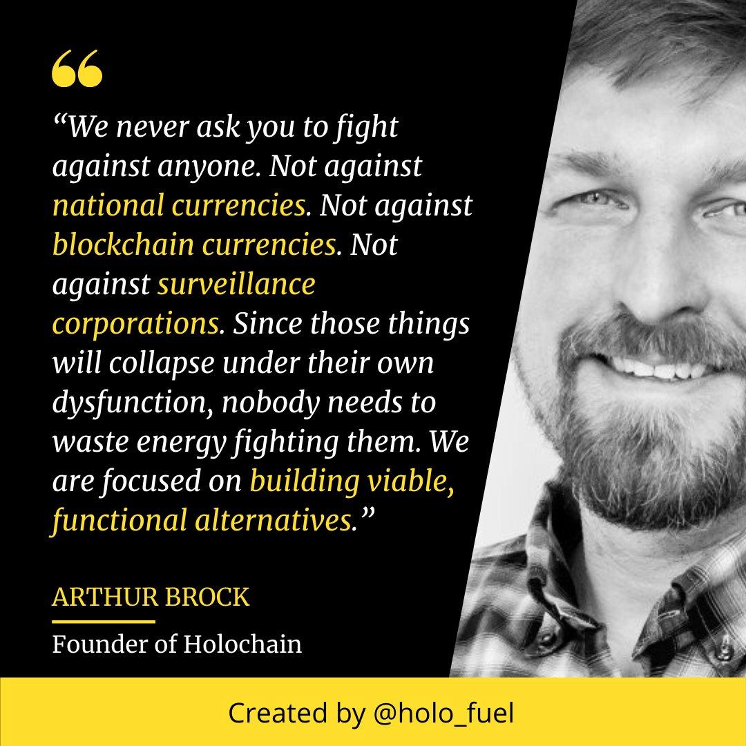 Holochain Arthur Brock Quote meme