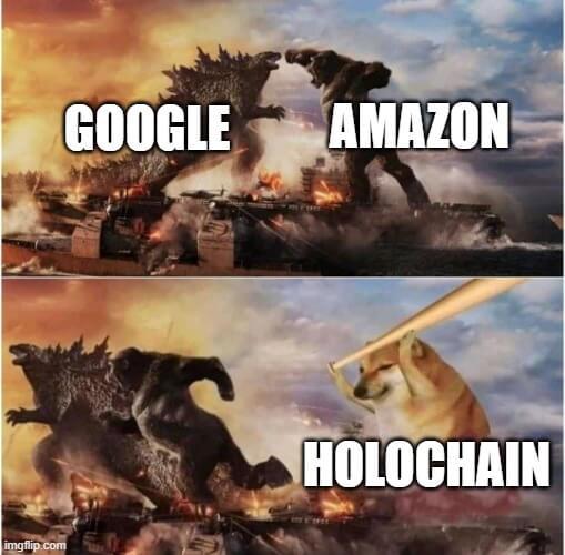 Holochain cloud war meme