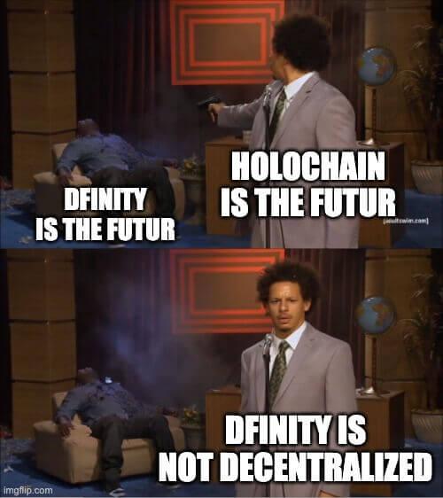 Holochain Hitman meme